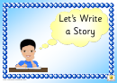 Story Prompt Display Cards Template