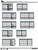Filling In Frequency Table From Tally Marks Worksheet Template With Answer Key