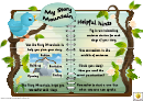 Story Mountain With Hints Template - Tree And Bird