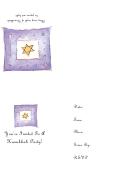 Rsvp Invitation Template - Hanukkah