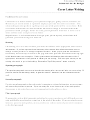 Cover Letter Writing Template