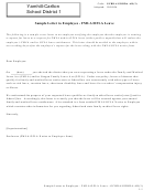 Sample Letter To Employee - Fmla/ofla Leave Template