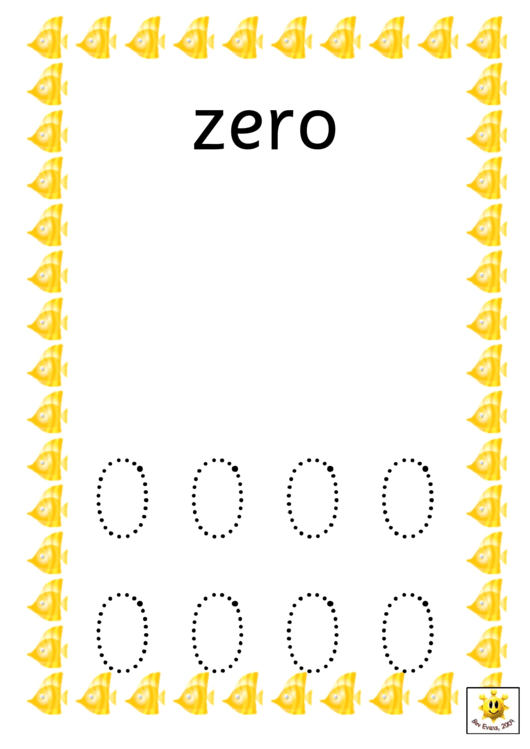 Fish Style Zero To Ten Number Tracing Sheets