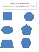 Button Up Shape Decorations Template
