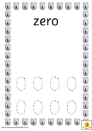 Mouse Style Zero To Ten Number Tracing Sheets