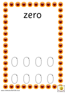 Spring Flower Style Zero To Ten Number Tracing Sheet