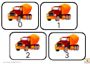 Truck Style 1-30 Number Practice Cards