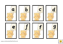 Teddy Bear Alphabet Chart