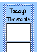 Today's Timetable Template