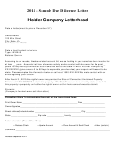 Sample Due Diligence Letter Template - 2014