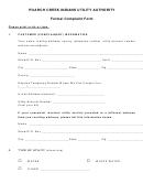 Poarch Creek Indians Utility Authority Formal Complaint Form