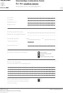 Internship Evaluation Form For The Student Intern