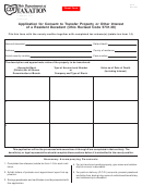 Form Et 12 And Et 14 - Application For Consent To Transfer Property Or Other Interest Of A Resident Decedent - Ohio Department Of Taxation