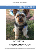 My Pet's Emergency Plan Template