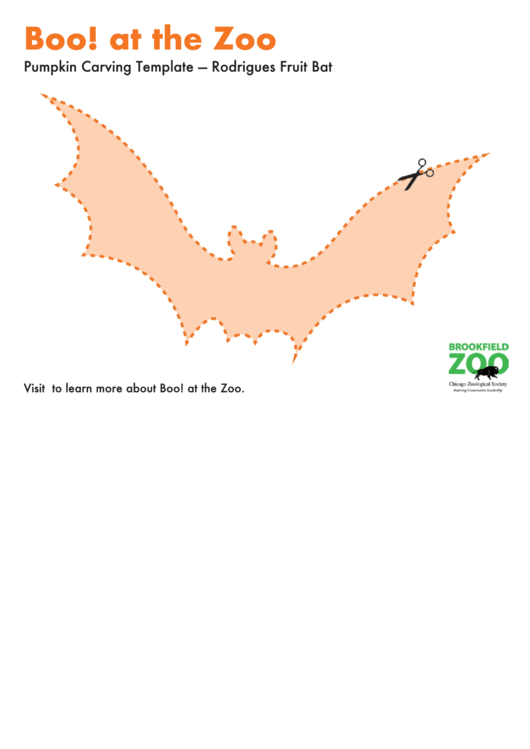 cut out flying bat pumpkin carving template printable pdf download