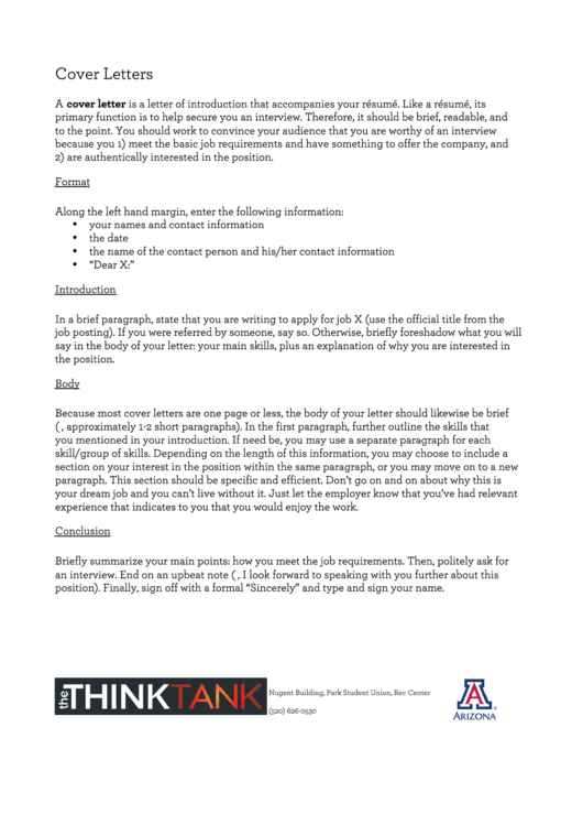 Sample Cover Letter From A Student Applicant Printable pdf