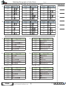 Matching Pictographs To Tally Charts Worksheet Template With Answer Key