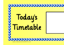 Today's Timetable Large Template