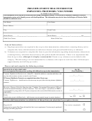 Pre-employment Health Form For Employees/providers/volunteers In Child Care Centers