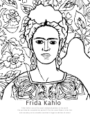 Frida Kahlo Coloring Sheet