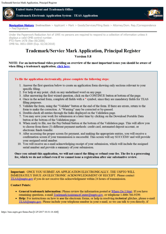 Top 43 Trademark Application Form Templates free to ...