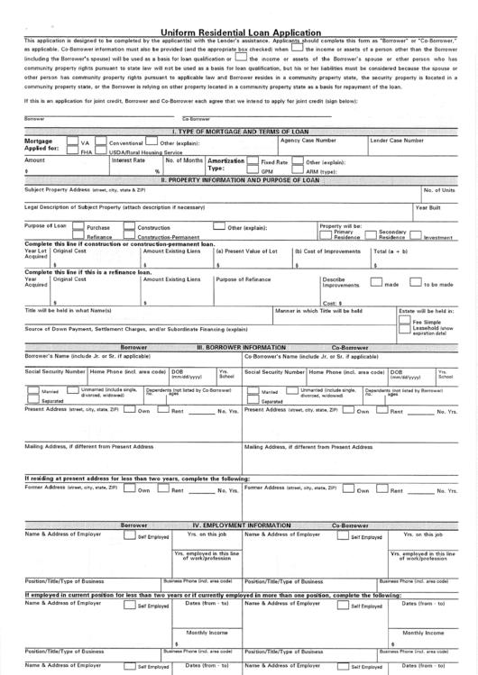 page_1_thumb_big  Uniform Residential Loan Application Pdf on new enhancements, freddie mac form, example completed, rural development, sample data, clip art, already filled,