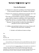 Sample Solicitation Letter To Board Members
