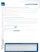 Cote D'ivoire Visa Application Form