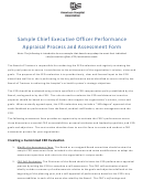 Sample Chief Executive Officer Performance Appraisal Process And Assessment Form