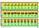 Irish Style Number Line Template