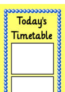 Today's Timetable Yellow Style Schedule Template
