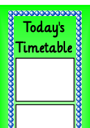 Today's Timetable Green Style Schedule Template