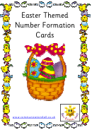 Easter Themed Number Tracing Sheets