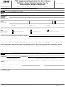 Form 8945 - Ptin Supplemental Application For U.s. Citizens Without A Social Security Number Due To Conscientious Religious Objection