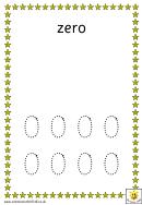 Bats Number Practice Sheet