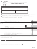 Form T-71h - Health Insurance Companies Tax Return Of Gross Premiums - 2012