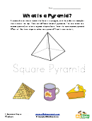 Square Pyramid Activity Sheet