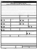 Va Form 21-8941 - Reps Annual Eligibility Report