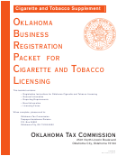 Oklahoma Business Registration Packet For Cigarette And Tobacco Licensing - Cigarette And Tobacco Supplement