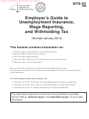 Form Nys-50 - Employer's Guide To Unemployment Insurance, Wage Reporting, And Withholding Tax