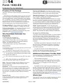 Form 1040-es - Estimated Tax For Individuals - 2014