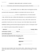 Form 3431.05 - Vermont Preliminary Lister's Oath