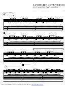 Landslide (live Version) Sheet Music