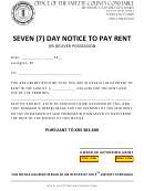 Seven (7) Day Notice To Pay Rent
