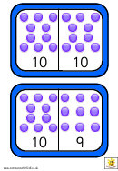 Dominoes To 10 Numbers Template
