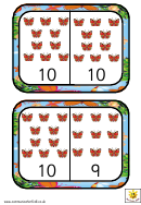 Butterfly Dominoes To 10 Template