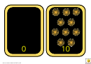 Number Bonds To 10 Fireworks Template
