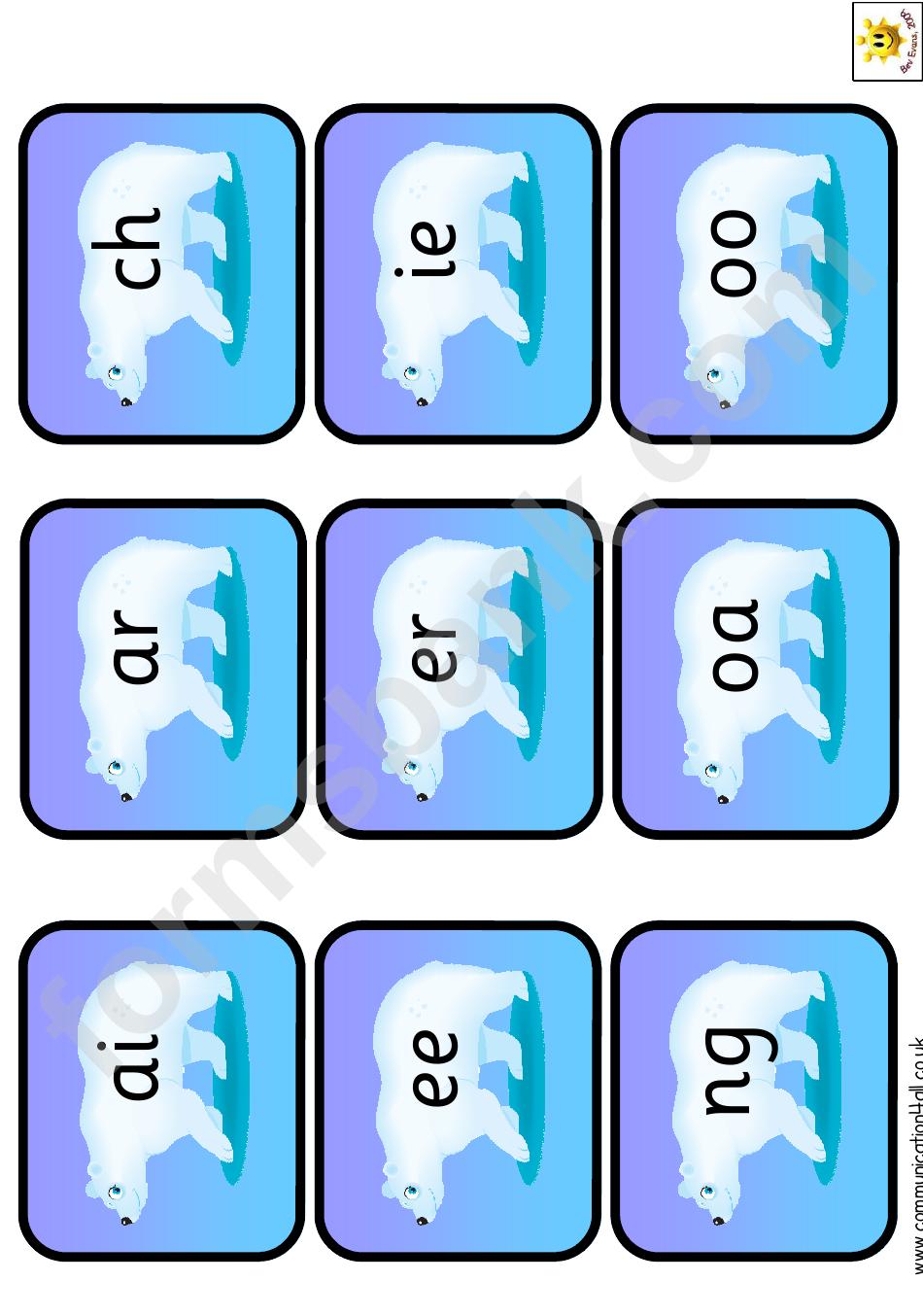 Mini Polar Bear Phonetic Alphabet Chart