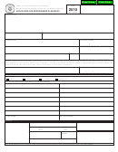 Form 2510 - Application For Repossessed Placard(s)
