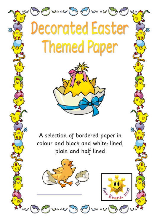 Decorated Easter Themed Paper